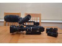 ProHD JVC GY-HD100 HDV VIDEO CAMERA RECORDER (3CCD 16:9 Progressive)
