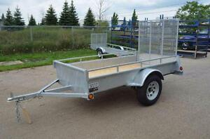 Utility Hot Dipped Galvanized Trailers 5 Year Warranty Best Galvanized Trailer Available Standard & Super deluxe models