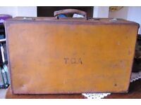 1930'S Leather Suitcase