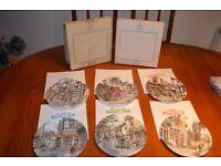 "Royal Dalton ""Window Shopping"" set of Plates"
