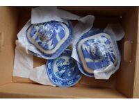 Ye Old Willow Pattern China Blue and white