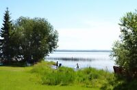 .68 ACRE WABAMUN LAKE LOT with Huge Walkout Home.