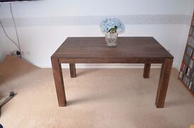 Dark Solid Wood Mango Dining Table 1 year old.