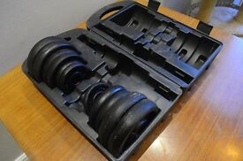 York Dumbbell 20kg Weights Set (no bars) - £10