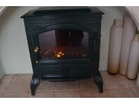 Burley dark green fire with convector. Coal and flame effect Bargain price