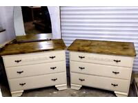 matching solid set of drawers / dressing table