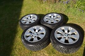 BMW Alloy wheels with snow tyres