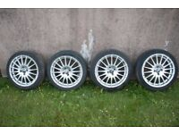 "4 x 17"" OZ Racing Gran Turismo wheels with tyres"