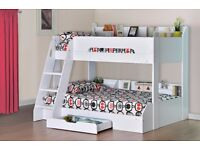 Kids L-Shaped,Triple & double bunks.Sleepers with Storage & study desks Next day 2 man Free Delivery