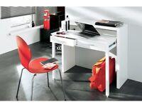 Desk - Home - Expandable Desktop - Desk and Console - Table - Work - White Gloss Colour