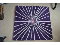 "Ikea rug - purple 34"" square"