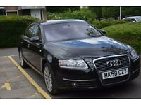 AUDI A6 2008 BLACK with low 57000 mileage for sale