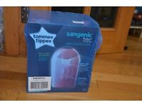 Sangenic tec nappy disposal system- Pink. Brand new unpacked box
