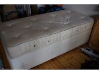 Single divan bed in good condition with quality mattress, may deliver