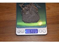 Gift idea. Antique Sterling Silver Mesh Purse Chain Handbag Woven. France.