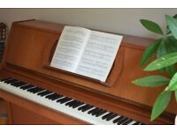 Classic Challen 988 Upright Piano Teak finish