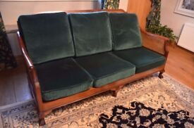 Reproduction Bergere Settee. Ideal for a conservatory. In excellent condition.