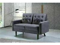 🔵💖🔴LOWEST PRICE IN UK🔵💖🔴NEW 3&2 SEATERS PLUSH VELVET MAZZ SOFA AVAILABLE IN GREY & CREAM COLOR