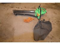 Large Leaf Vacuum + Blower by Powerbase, with shoulder carrying strap and detachable collection bag