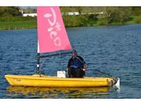 Laser Pico sailing dinghy.