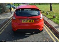 2YRS GOLD WARRANTY,HPI CLR, NEW FORD SERVICE, 2014 FORD FIESTA 1.6 ZETEC POWERSHIFT,PETROL,AUTO,RED