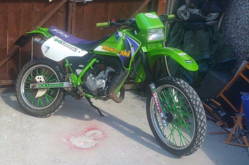 Kawasaki kmx 125 kmx125 road legal cr yz rm kx crf kxf cg ped dt125 dt dr125 dr