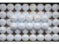 50 used Titleist NXT Tour golf balls