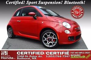 2012 Fiat 500 Sport New Tires! Certified! Sport Suspension! Blue