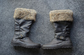 NEW Next Brown Fur Lined Boots size 7