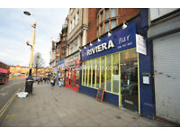 High Street: Extremely well presented and clean two levels A3 commercial premises