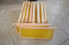National Hive Manley frames - assembled with foundation, set of 10.