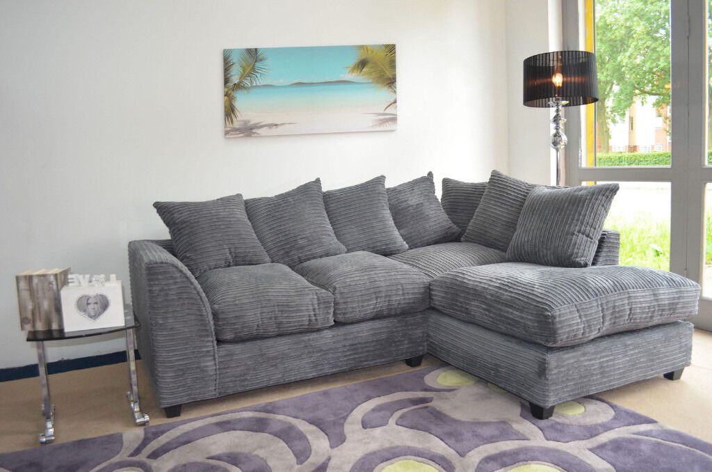 brand new dylan jumbo cord corner sofa available in different colours