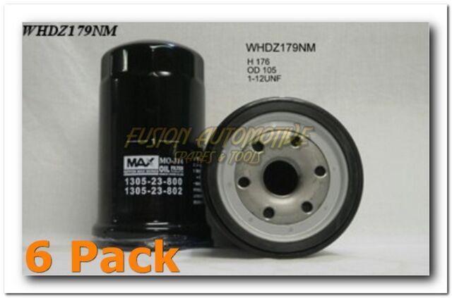 6 x WHDZ179NM Wesfil Oil Filters TRADE PACK - Ryco Equiv  HDZ179
