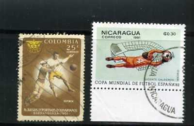 FUTBOL OF COLOMBIA/ 61 ,- NICARAGUA,-CUP SPAIN/82 ''ARQUEROS''