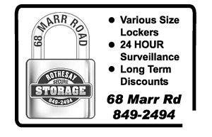 FREE MONTH RENT AT ROTHESAY SECURE STORAGE