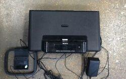 Sony ICF-CS15iP iPhone iPod Personal Audio Dock Black System Alarm Clock Radio