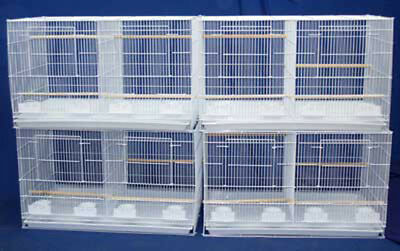 "Lot of 4 Large Breeding Breeder Bird Cages 30x18x18"" W/Divider White-247"
