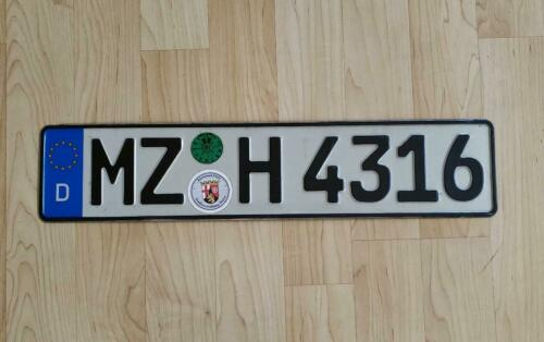 REAL GERMAN LICENSE PLATE AUTO NUMBER CAR TAG VW AUDI BMW MERCEDES BENZ SEALS ON