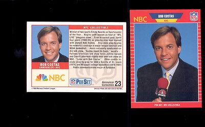 1989 Pro Set Bob Costas Nbc Announcers Insert Card