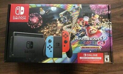 Nintendo Switch Mario Kart 8 Deluxe Console Bundle 32GB 3 Months Online IN HAND