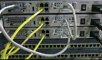 Cisco CCNA CCNP R&S SECURITY LAB 3x 1841 IOS 15.1T 256D/64F 2x 2950-24