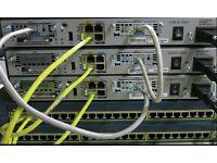 CISCO 1841 256D//64F  T1 CCNA CCNP CCIE  IOS 15.1 RACKMOUNTS INCL.