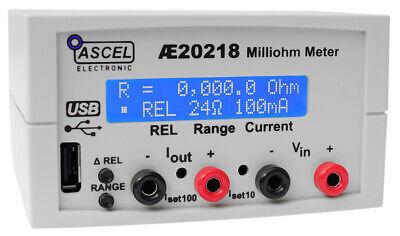 AE20218 Milliohm Meter, 0.1 Milliohm Auflösung, Komplett-Bausatz mit Gehäuse/USB Milliohm-meter