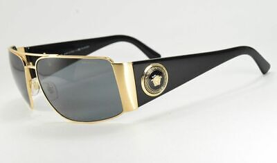 Versace 2163 1002/81 Black & Gold Wrap Polarized Sunglasses