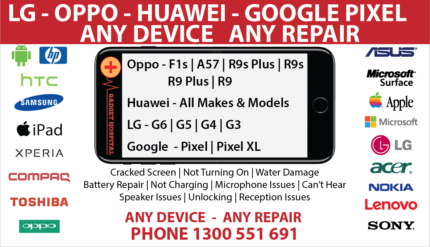 SAMSUNG OPPO HUAWEI LG REPAIRS ALL MAKES / MODELS