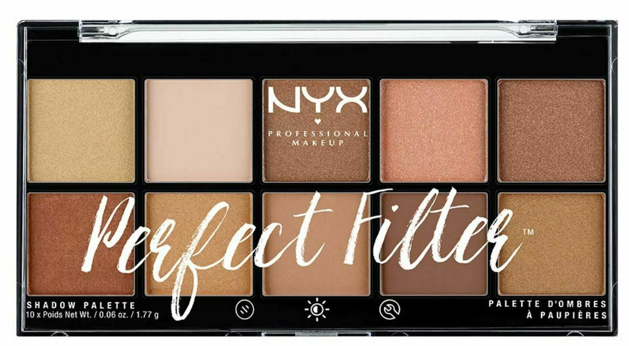 NYX PROFESSIONAL MAKEUP Perfect Filter Shadow Palette, Golde
