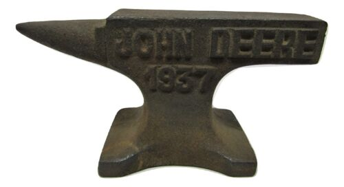 "Small Miniature Rustic John Deere Tractor 1937 4"" Cast Iron Anvil Jeweler Hobby"