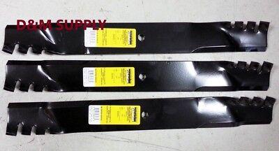 Set Of 3 John Deere 54 Mower Mulching Predator Blades M113518 M115496