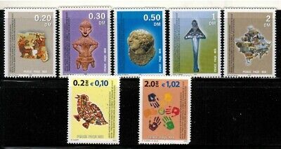United Nations in Kosovo #1-6, 10 2000-01 MNH