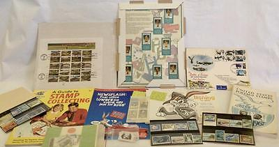 LOT ASSORTED STAMPS BASEBALL OLYMPIC JAPANESE HUMMEL COLLECTING BOOKS FDC BUGS